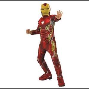 Iron man boys deluxe muscle costume size medium
